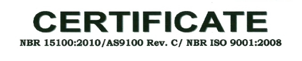 Avionics is certified ISO 9001 and AS 9100